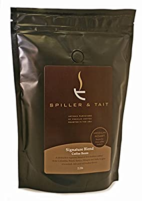 Spiller & Tait - Medium-Dark Roast WHOLE BEAN Coffee Large 2.2 lb Bag - Award Winning & Delicious Coffee Beans - Freshly Roasted in the USA - Signature Blend