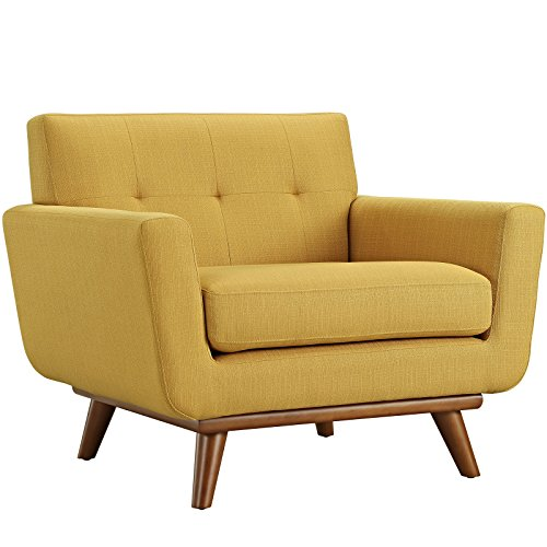 Modway Engage Upholstered Armchair, Citrus