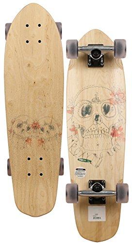 Roxy Sugar Skulls Longboard Skateboard - Clear