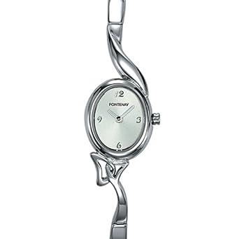 Fontenay , UR1217GN , Montre Femme Ovale , Quartz Analogique , Fond Argent , Bracelet Rigide