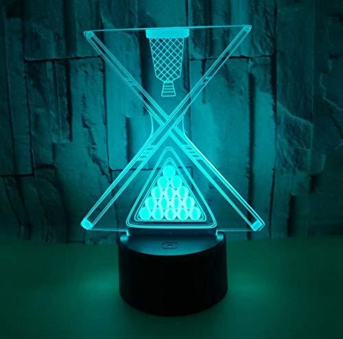 Base negra tactil luz nocturna billar 3D colorido control remoto luz nocturna Usb noche luz Led regalo noche luz lampara de noche atmosfera visual lampara de mesa