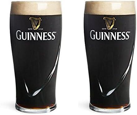 Lot de 2 Verre /à bi/ère Guinness 567/gram 1/pinte