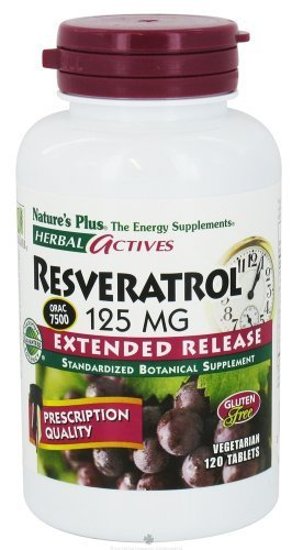 Nature's Plus - Herbal Actives Resveratrol 125mg, Extended Release (2-Pack of 120) by Nature's Plus