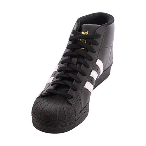 newest 6c447 d998b adidas Originals Mens Pro Model Running Shoe, BlackWhiteMetallicGold,  (10 M US)