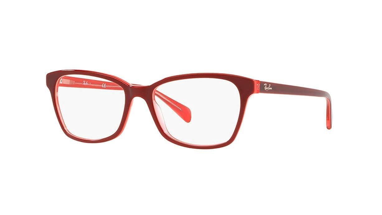 3aa0e45d4d579 Amazon.com  Ray-Ban Women s 0rx5362 No Polarization Square Prescription  Eyewear Frame Top Pink Fuxia Transparent