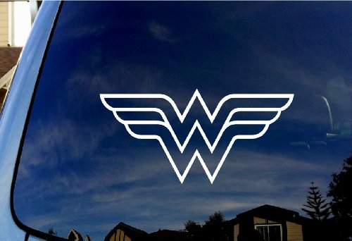 Wonder Woman Symbol Car Truck Vinyl Decal 6″ Diameter
