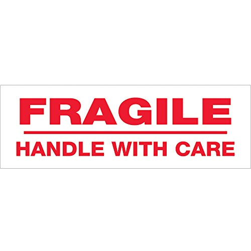 "UPC 848109024172, Tape Logic T905P026PK Pre-Printed Carton Sealing Tape, Legend Fragile Handle With Care, 110 yds Length x 3"" Width, 2.2 mil Thick, Red on White (Case of 6)"