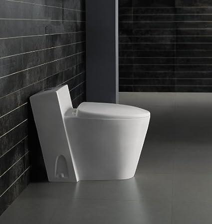 modern bathroom toilet one piece dual flush umbri - Modern Bathroom Toilet