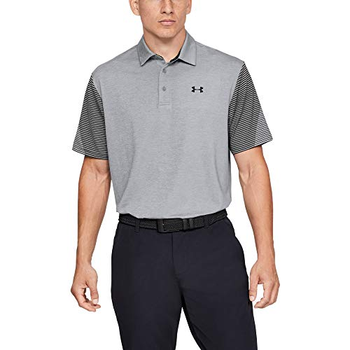 Under Armour Men's Playoff Golf Polo 2.0, Steel/Black, -