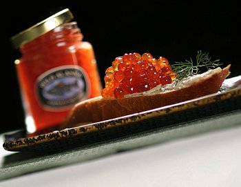 1.75 Ounce Jar Wild Salmon Caviar (Cheese Salmon Cream Smoked)