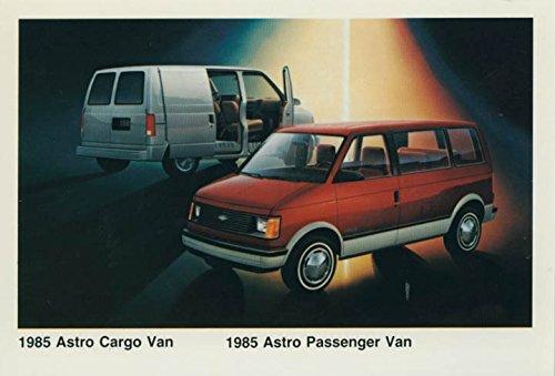Chevrolet Cargo Vans (1985 Chevrolet Astro Cargo & Passenger Van ORIGINAL Factory Postcard)