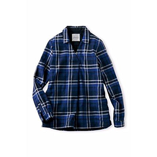 まだ枯渇あなたはフェリシモ リブインコンフォート(Live in comfort) スッキリ見えてニット級の暖かさ ふかふか裏フリース長め丈チェックシャツ