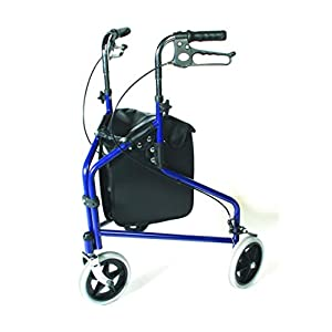 Days Tri Wheel Walker with Loop Lockable Brakes, Easy to Manoeuvre & Height Adjustable Limited Mobility Aid, Comfortable… 38