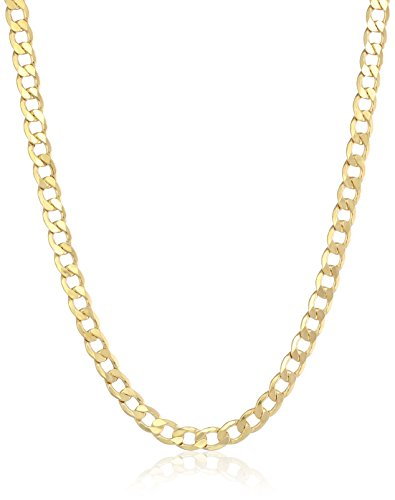 Men's 14k Yellow Gold Italian Grumetta Link Chain Necklac...