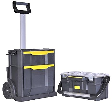 STANLEY STST1-79231 - Taller móvil para herramientas 2 en 1, 56 x 38,2 x 76,4 cm