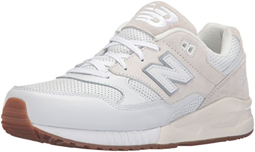 New Balance Men's 530 Classic Lifestyle Sneaker, White, 9 D US