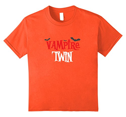 Kids Vampire twin Shirt, Funny Cute Halloween Costume Gift 8 (Cute Twin Boy Halloween Costumes)