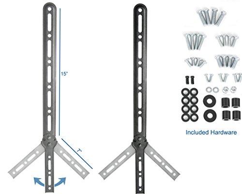 vivo universal sound bar bracket speaker mount below or above