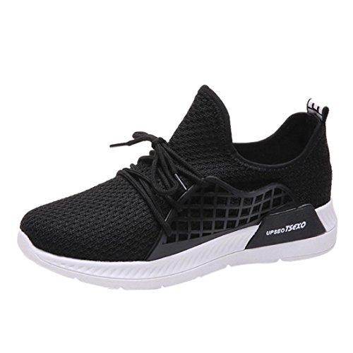 Estive Eleganti Sneakers Corsa Scarpe Sportive Donna Da Beautyjourney  Ginnastica Nero Stringate 7qfgEUw caeba207471
