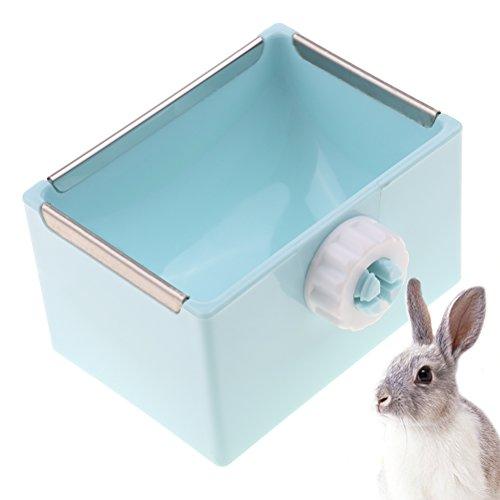 - Ioffersuper 1 Pcs Small Animal Feeder Rack, Mess-Free Alfalfa Dispenser,Hay Manger Rack for rabbit/galesaur/ferret,Blue