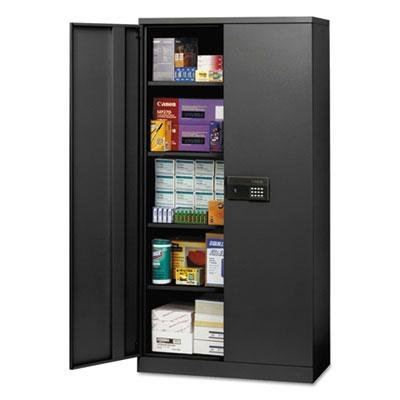 Sandusky Lee KDE7236-BLK Keyless Electronic Lock KD Cabinet, 4 Adjustable Shelves, 36