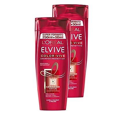 Loréal Paris Elvive Color Vive Shampoo Protettivo Per Capelli Colorati O Mèches 2 X 300 Ml