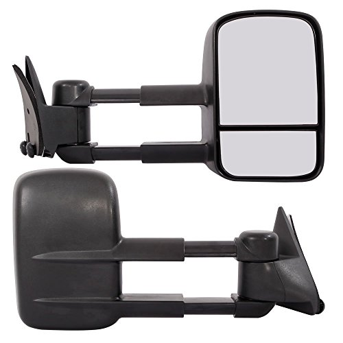 Towing Mirrors for 1988-1998 Chevrolet GMC C/K 1500 2500 3500 Pickup Chevy Tow Mirrors Pair Manual Telescoping Side Mirrors