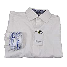 Robert Graham Triple Peel 2 White Medium Long Sleeve Shirt