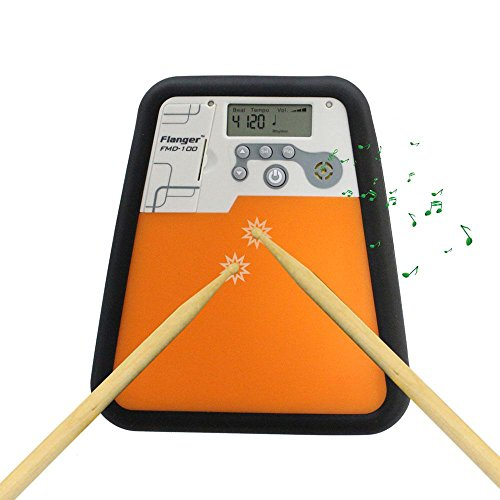 TEEPAO Electric Drum Pad for Beginner Practice, Digital Mute with LCD Display Built-in Metronome and Speed Detection, Ship with Drum Sticks and Drum Pad Carry Bag, Real Drum Feel for Drummer Training by TEEPAO