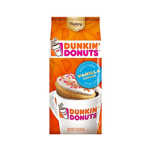 Dunkin' Donuts Bakery Series Ground Coffee, Vanilla Cupcake, 11 oz