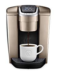 The Keurig K-Elite brewer blends premium finish and programmable features together to deliver both modern design and the ultimate in beverage customization. With a striking brushed finish and metal details, it's a stylish addition to any kitc...