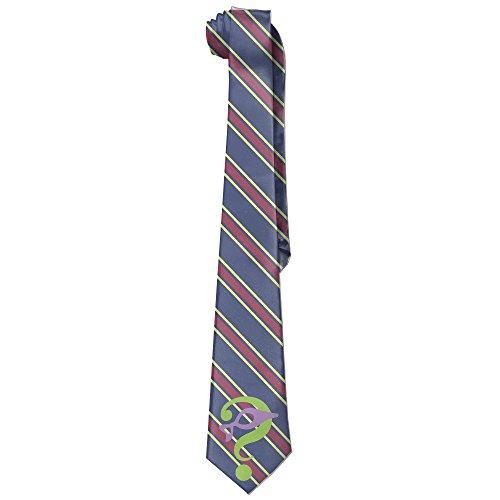 [MDSHOP Men's The Riddler Supervillain Comics Logo Necktie Skinny Ties / New Novelty Necktie] (The Riddler Suit)