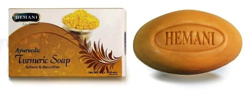 Hemani Ayurvedic Turmeric Soap for All Skin Types 6 Soap Package