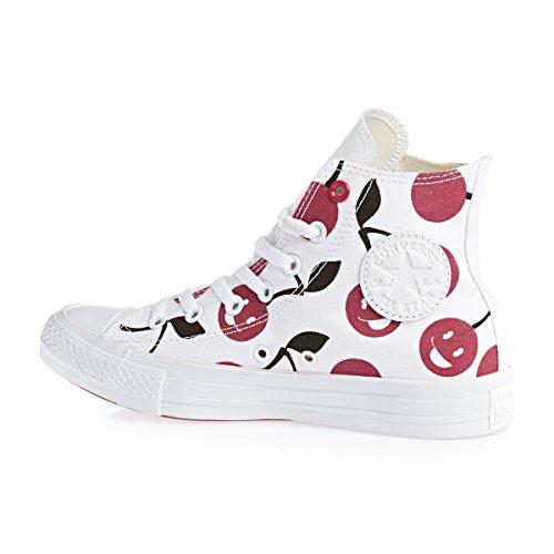 Converse All Star Hi Graphics - Zapatillas abotinadas Unisex adulto Blanco Días A
