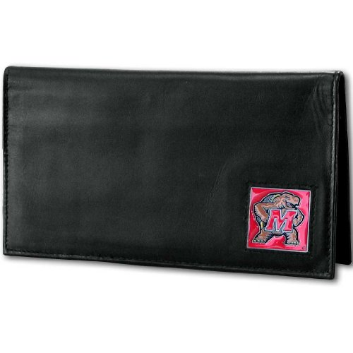 - NCAA Maryland Terrapins Deluxe Leather Checkbook Cover
