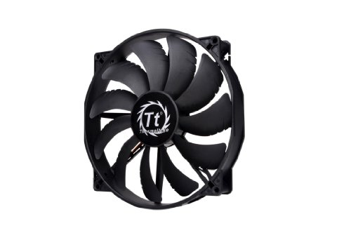 (Thermaltake 200mm Pure 20 Series Black 200x30mm Thick Quiet High Airflow Case Fan with Anti-Vibration Mounting System Cooling CL-F015-PL20BL-A)