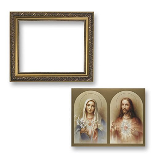 Gerffert Collection The Sacred Hearts Framed Landscape Print, 13 Inch (Ornate Gold Tone Finish Frame)
