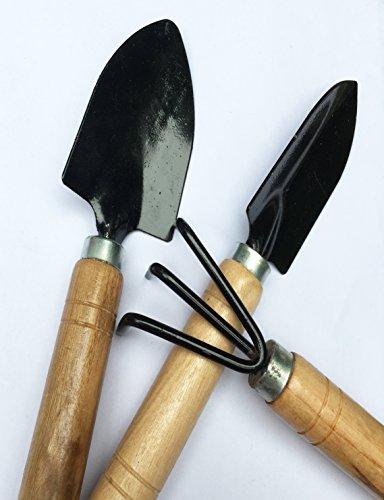 Gardening-set-of-three-Fork-shovels-trowels-and-rakes-3-SET