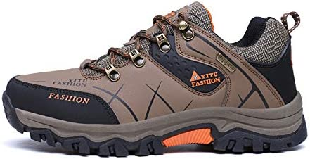 PANY Men s Low Top Waterproof Hiking Boots Outdoor Lightweight Shoes Backpacking Trekking Soess Work Shoes for Outdoor Walking