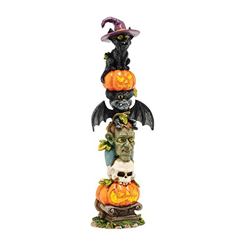 Department 56 Halloween Village Haunted Totem Pole Accessory, 6.75 inch