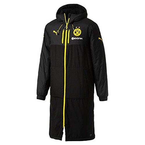 2017-2018 Borussia Dortmund Puma Long Bench Jacket (Black)