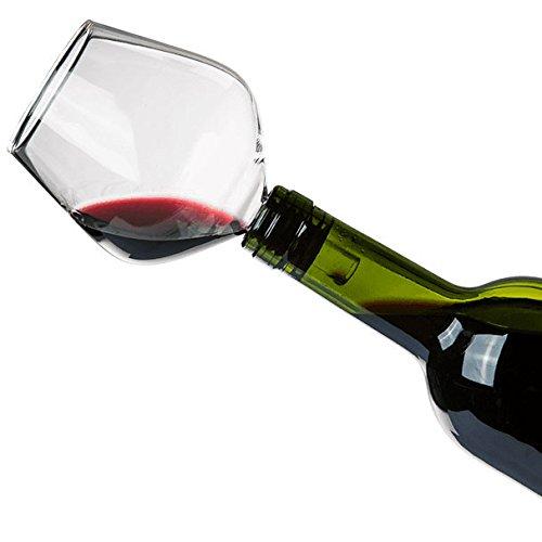 SHOP STORY Bouchon de Bouteilles en Forme de Verre à Vin - Fini la buvette au goulot !