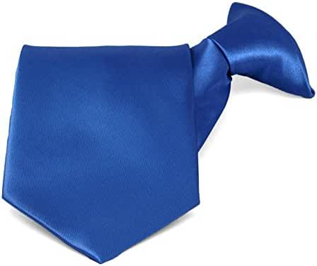 TieMart Royal Blue Solid Color Clip-On Tie