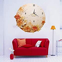Wall Clock, Unique Maple Leaf Clock, Resin Crafts, Home Decoration, Suitable for Living Room Kitchen, Creative Gifts,Mapleleaf