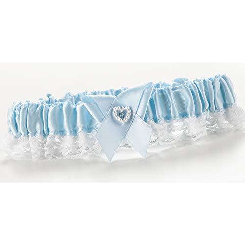 9pk Heart and Rhinestone Garter Toss - Blue-Garters ()