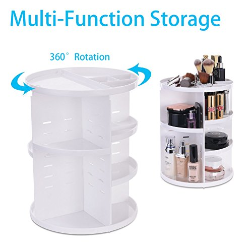 MOFIR-Makeup-Organizer-360-Degree-Rotating-Adjustable-Multi-Function-Cosmetics-Storage-Box-Small-Size-Extra-Large-Capacity-Fits-Different-Sizes-of-Cosmetics--Circle-White
