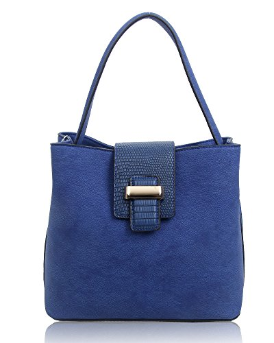 Cube X Bucket 25cm Small Blue Women's Navy Bag Foxlady 13cm 23cm Shoulder xZ4Etw