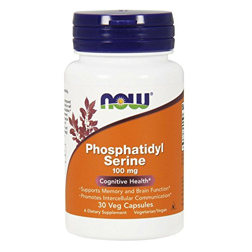 NOW Phosphatidyl Serine W/ Choline and Inositol 100mg, 30 Veg Capsules