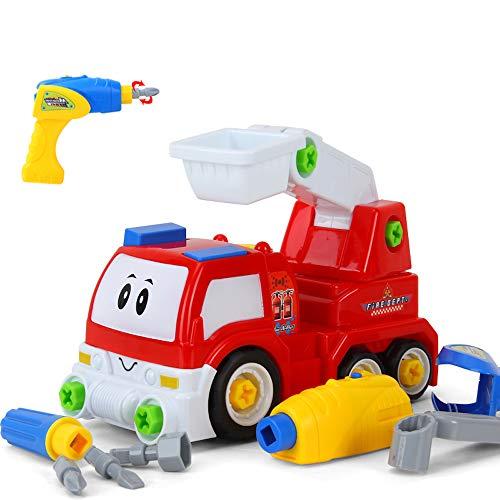 Fat Brain Toys Build It! Drive It! RC Fire Engine ()