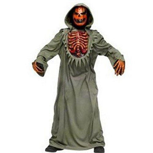 Bleeding Chest Evil Pumpkin Child Costume Size Large (Bleeding Skeleton Costume)